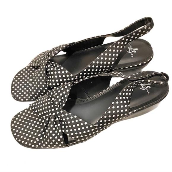 """""""Mimosa"""" Polka Dot Sandals"""